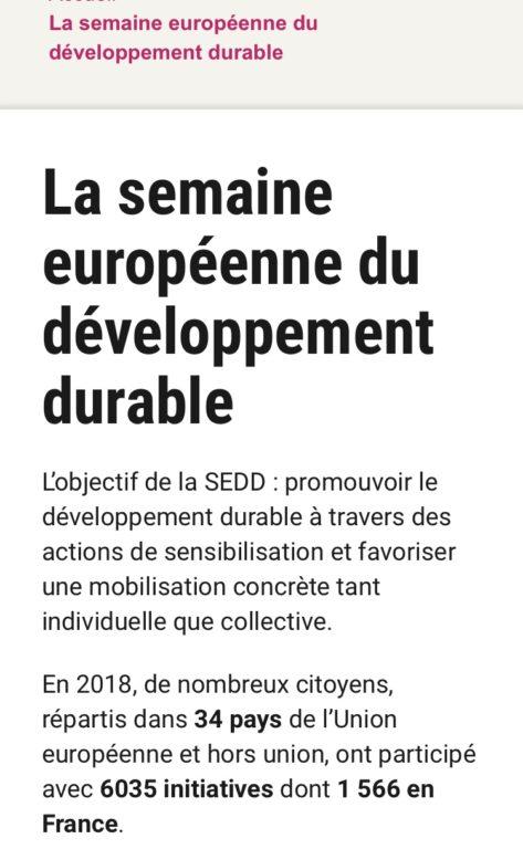 【ニュース】SDGs週間inヨーロッパ、始まる!
