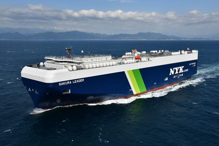 【日本】日本郵船、国内初のLNG燃料船を竣工。自動車輸送船でCO2を40%減。2035年からはゼロ目指す
